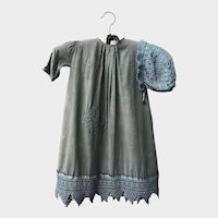 Antique Heirloom Baby Dress with matching Knit Cap