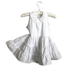 Adorable 50's Skamperette White Toddler Dress