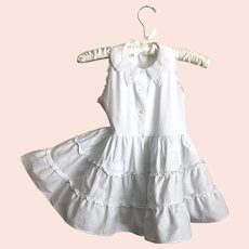 Adorable 50's Skamperette White Toddler Dress