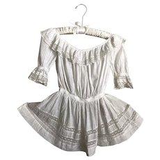 Exquisite Antique Edwardian White Toddler Girls Dress