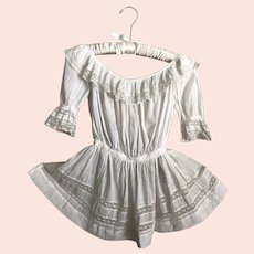 Exquisite Antique Edwardian White Toddler Girls Dress