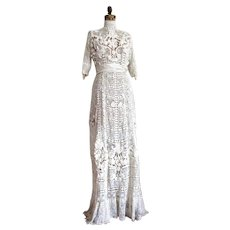 Antique Irish Crochet Wedding Dress