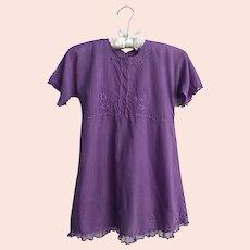 Antique Edwardian Cotton and Lace Little Girls Dress