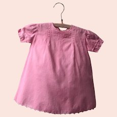 Antique Heirloom Pink Baby Dress