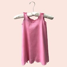 Antique Heirloom Pink Baby Slip Dress