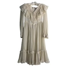 Vintage 1970's Gunne Saks Youth Dress