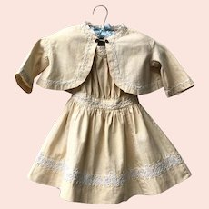 RARE Antique 1880's Heirloom Girls Dress and Jacket Set