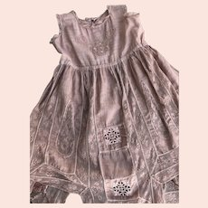 Antique French Valenciennes Lace Toddler Dress