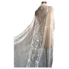 Exquisite Antique Brussels Lace Wedding Veil