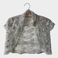 Vintage 1930's Girls Lace Bolero Jacket