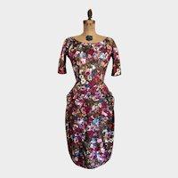 Vintage 1950's Bombshell Jo Copeland Wiggle Dress Madmen