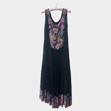 Vintage 1920's Beaded Flapper Dress