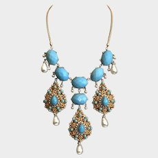 Lavish Yosca Bib Necklace  20""