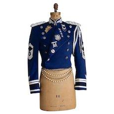 Vintage Military Jacket Embellished Jacket  Uniform Steampunk  Rock Star Size M/L