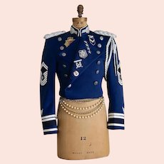 Vintage Military Jacket Embellished Jacket  Uniform Steampunk  Rock Star Size M/L