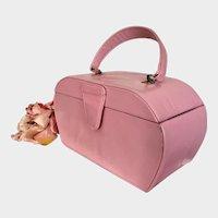 Vintage Paris Style Pink Box Purse  Coin Purse Pink Leather Purse