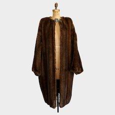 Vintage Isaac Mizrahi Faux Fur Coat Size Med - Large