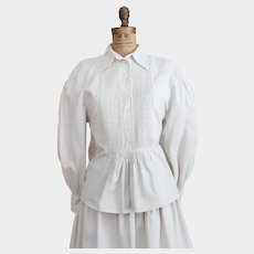 Traditional Linen Hungarian Folk Wear Pheasant Dress