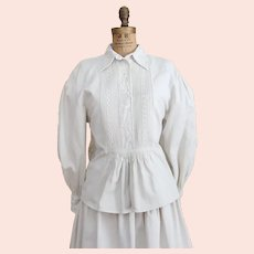 Traditional Linen Hungarian Folk Wear Pheasant Dress