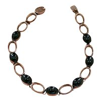 Bold Sterling Silver Black Onyx Necklace