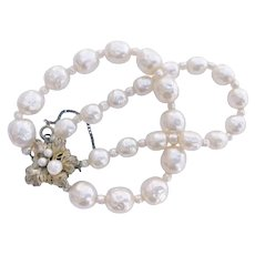 Older Miriam Haskell, Double Stranded Pearl Bracelet
