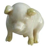 """Vintage """"Belleek"""" Ceramic Pig"""