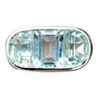 14KWG, 7.50 Carat, Icy White Topaz w/Diamonds Ring