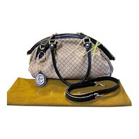 GUCCI Diamante Sukey Boston Hobo Brown and Black Bag