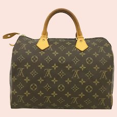 Louis Vuitton Monogram Speedy 30 Boston Travel Hand Bag