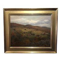 Hudson River Region Birdseye View Oil on canvas 1890