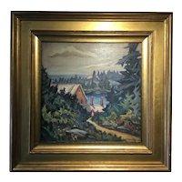 Frederick K. Detwiller; Landscape Oil on Canvas; New Harbor, Maine, 1932