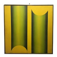 Jack Brusca Modernist Abstract Painting 1968