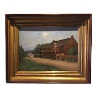 John Wesley Beatty 19th Century Western Pennsylvania Oil Painting - Scalp Level Area