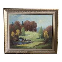 Vintage Ernest Fredericks Oil Painting - Brown County, Indiana; ca 1940's