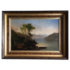 Antique Hudson River School - Lake George, New York; Oil on Canvas, ca. 1880