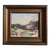 Vintage Samuel Pratt -  Virginia Landscape Oil on Board, ca. 1950