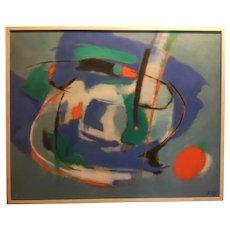 Mid Century Modern Abstract Oil on Canvas, ca. 1970