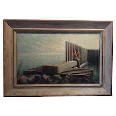 Vintage American Modernist Oil on Canvas - Listed Pennsylvania/ Florida Artist Sophie Parsons