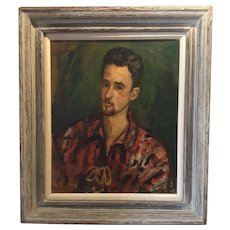 Arbit Blatas Portrait of a Young Man; Oil on Canvas, ca 1940's