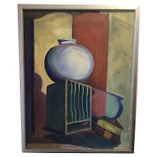 French Art Deco Oil Painting - Studio Composition - ca 1920's
