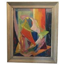 Mid Century Modern Abstract Oil, Grace Martin Taylor, West Virginia