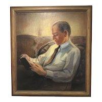 Ellen Gifford Northern - portrait of her son George, Oil on Canvas, ca 1930