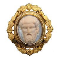 18K Gold Victorian Cameo of Hercules