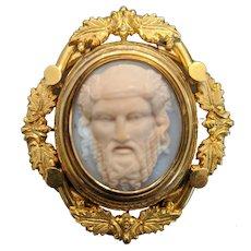 18K Gold Victorian Cameo of Hercules
