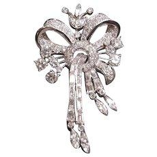 Platinum (tested), custom,diamond brooch/pendant, c. 1920's