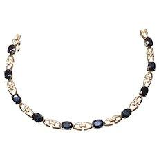 Sapphire bracelet in 14K yellow gold, c. 1980's