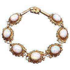 Australian opal bracelet in 14K peach gold, c. 1970's
