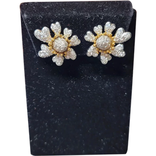 Tiffany Schlumberger Diamond Earrings