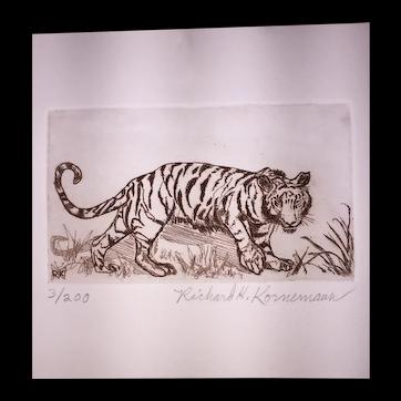 Tiger Etching by Kornemann