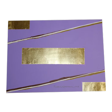 Acrylic Painting with 23Karat Gold Leaf Wood Box by Richard Kornemann